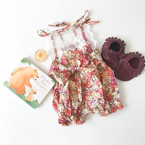 Lace and Bow Sunsuit