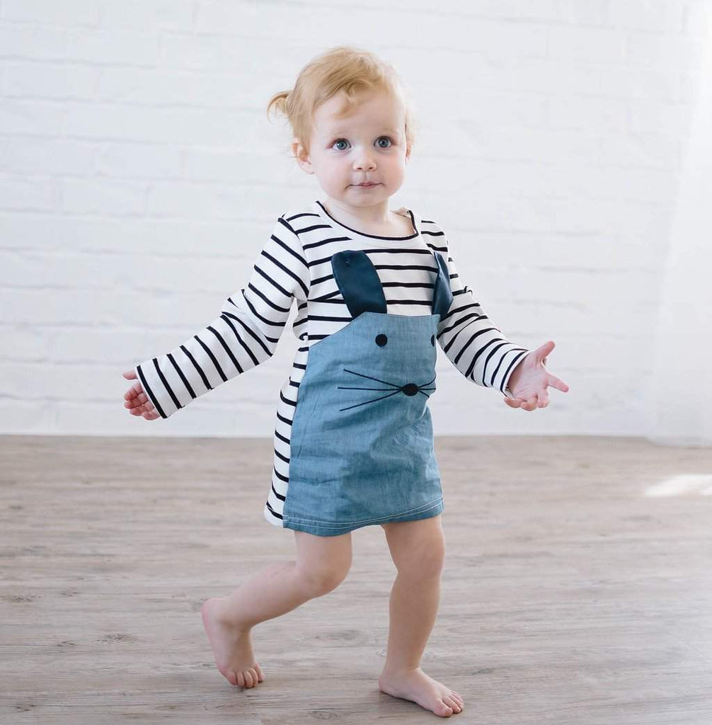 Whiskers Striped Dress