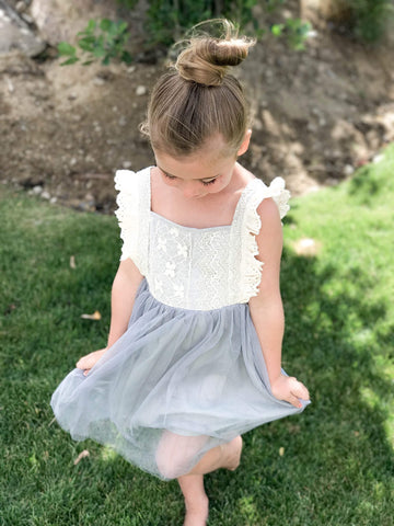 Lacey Lady Ruffle Sleeve Dress