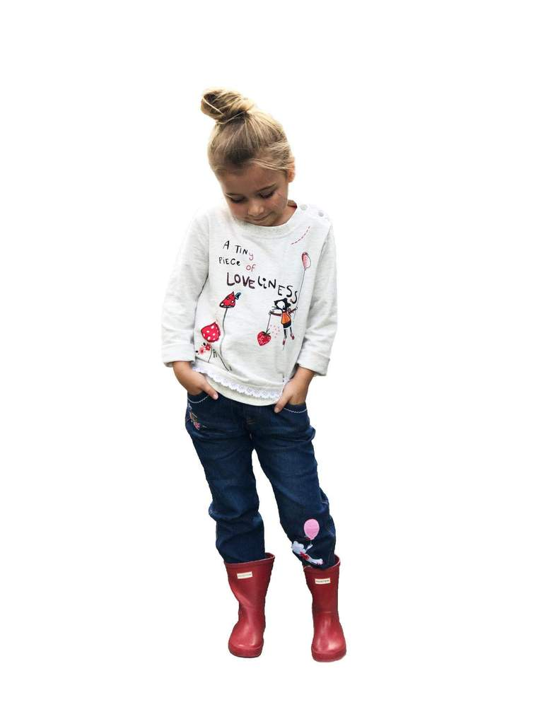 Girls Embroidered Outfit Set