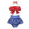 High Waisted Fringe swim bathing suit