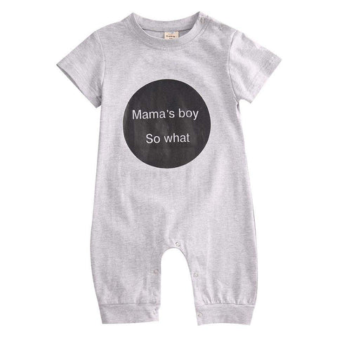 Mama's Boy So What Romper