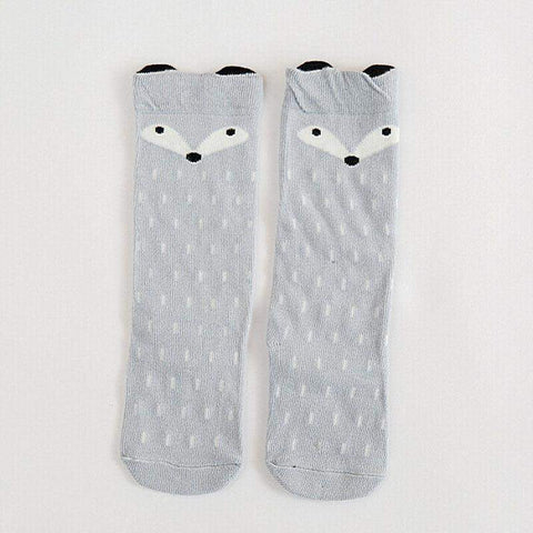 Bear & Fox Knee high socks - For Ages 1-3 yrs old