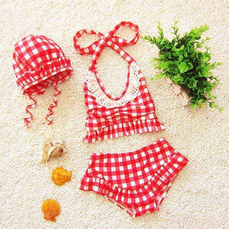 Picnic Days Swimsuit with Cap