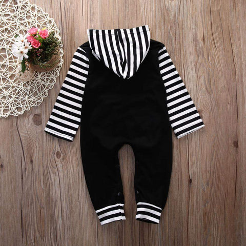Comfy and Casual Baby Hooded Romper