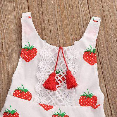 Sweet Strawberry Summer Romper