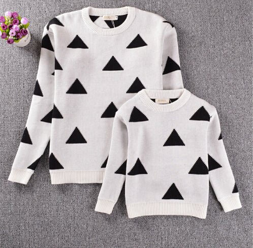 Mommy & Me Triangle Sweater