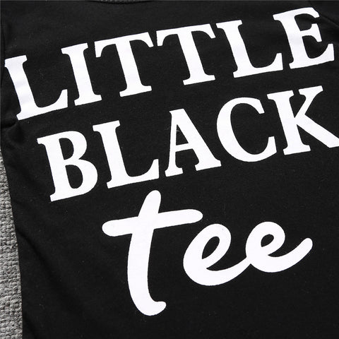 Little Black Tee Outfit Set