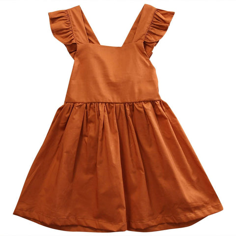 Autumn Lady Ruffle Sleeve Dress