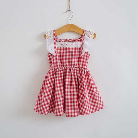 July Ruffle Apron Dress
