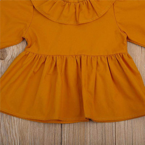 Orange Mini Baby Dress