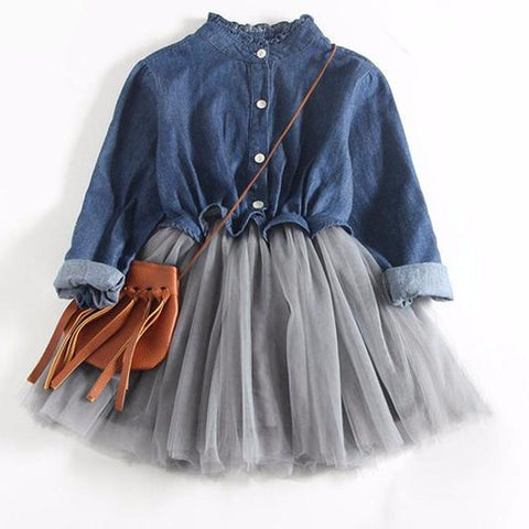 Hello Hadley Denim and Tutu Dress