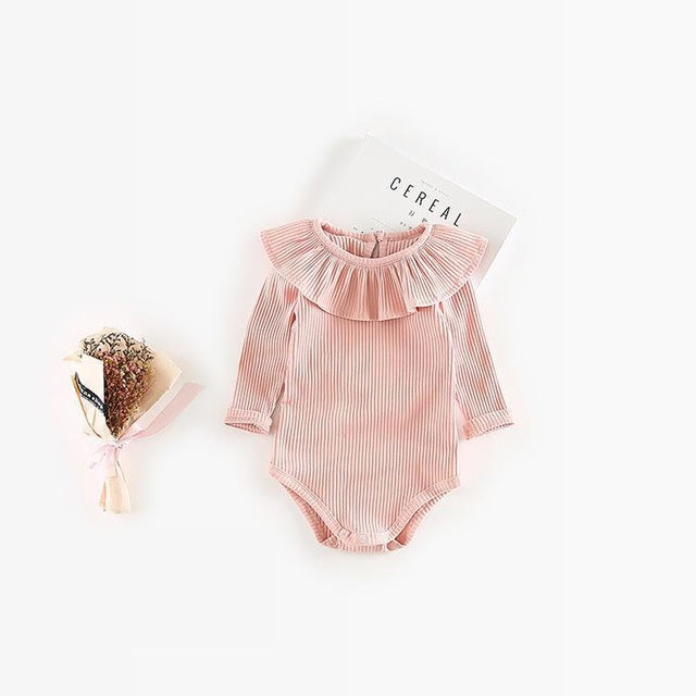 Ruffled Collar Onesie