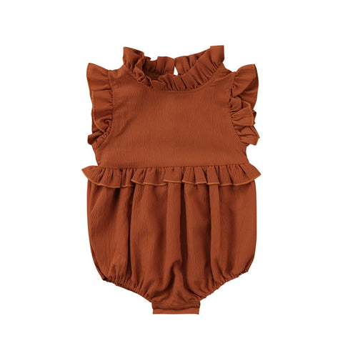 Autumn Ruffle Collar Romper (more colors)