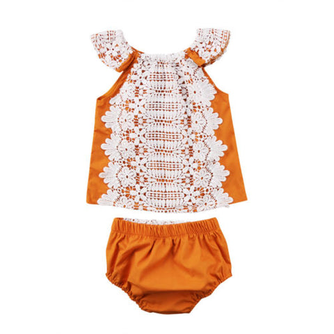 Ruffle Front Sunsuit Set