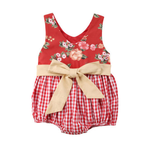 Picnic Days Bow Sunsuit