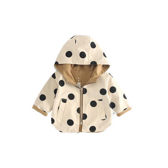 Reversible Polkadot Love Raincoat