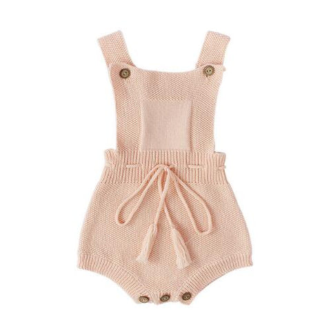 Blush Rose Knit Romper