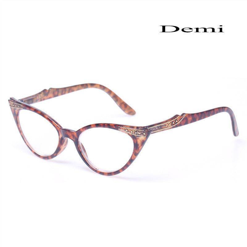 Brand Fashion Cat Eye Reading Glasses Retro Vintage Female Spring Hinged Presbyopia Glasses