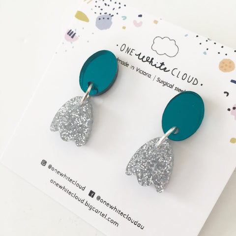 One White Cloud Earrings