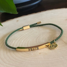 Load image into Gallery viewer, Peace Adjustable Bracelet