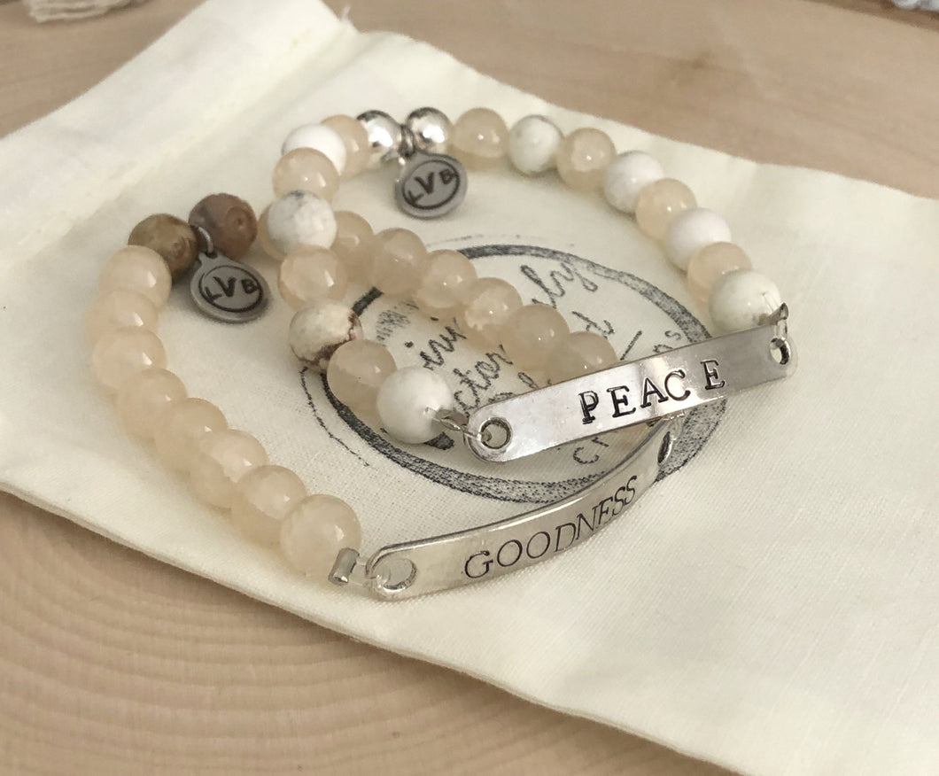 Custom Neutral Stretch Bracelet Set (2)