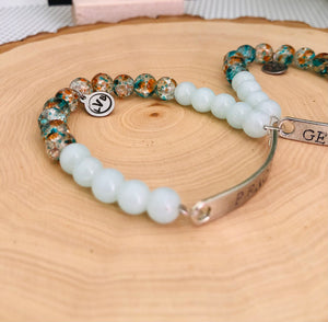 Wholesale Blue Glass Bead Bracelet