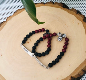 Lava Red Stretch Bracelet