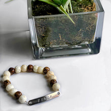 Load image into Gallery viewer, Custom Men's Mixed Bone Stretch Bead Bracelet