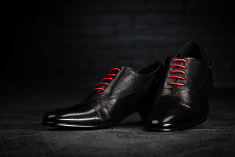 Black Shoes with Red Laces