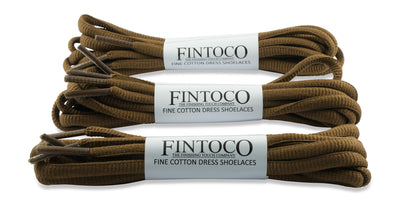 Oval Athletic Shoelaces - Dark Brown