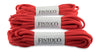 Oval Athletic Shoelaces - Red