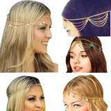 Hasana Gold Headband - Muslim Accessories For Sale | Muslimaqueen