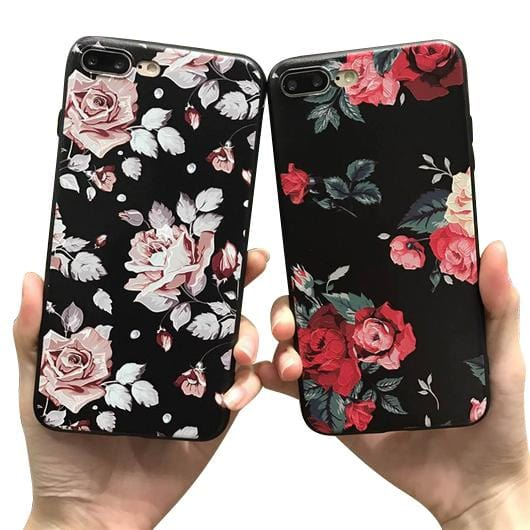 Rose Flower Silicone iPhone Case  - Phone Case For Sale | Muslimaqueen