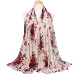 Chavi Floral Shawl Scarf - Hijab Scarf For Sale | Muslimaqueen