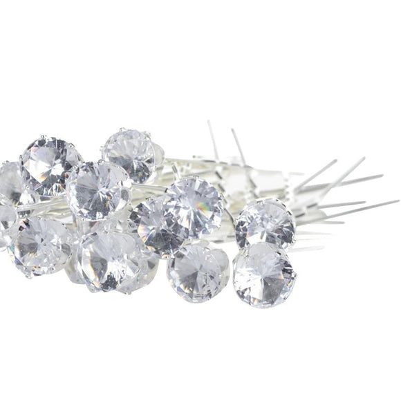 Labeeba Round Crystal Pins - Hijab Jewelry Online | Muslimaqueen