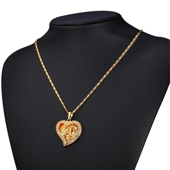 Charity Hollow Heart Necklace - Hijab Necklaces For Sale | Muslimaqueen