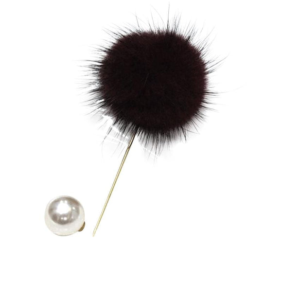 Pompom Lapel Pin - Arabic Bridal Accessories | Muslima