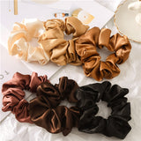 Silk Solid Elastic Hair Bands