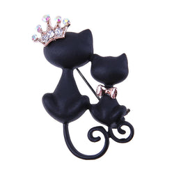 Cat Crown Brooch Pin - Hijab Women Jewelry For Sale | Muslimaqueen