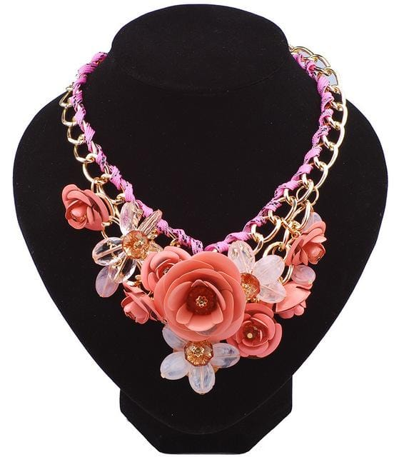 Mia Flower Statement Necklace - Islamic Jewelry Shop | Muslimaqueen