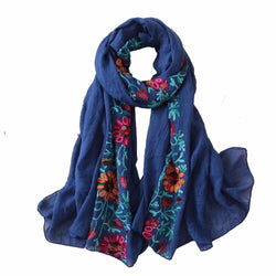Meroo Naser Embroidered Scarf - Islamic Fashion Shop | Muslimaqueen