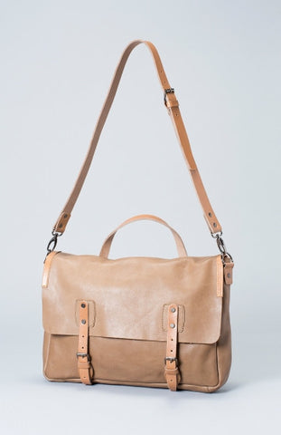 Huide Leather Satchel - Stucco & Blonde