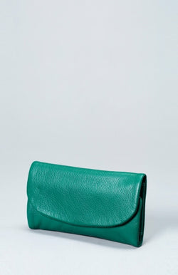 Nors Leather Wallet - Sea Green