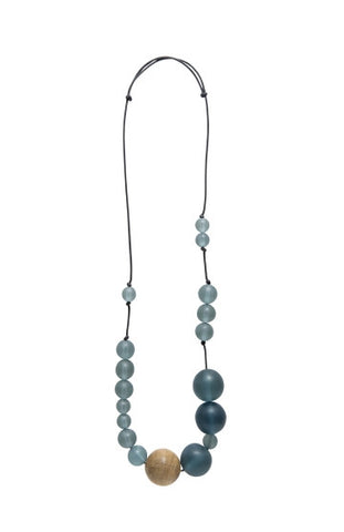 Frosted Sphere Necklace - Brilliant Blue