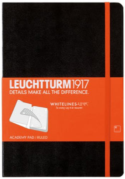 Leuchtturm 1917 Whitelines Link Notebook: Academy Pad: Dotted A4