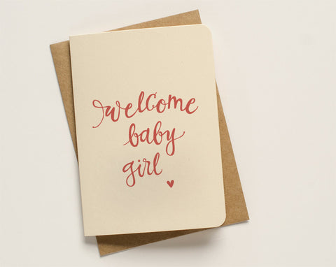 An April Idea Card - Welcome Baby Girl