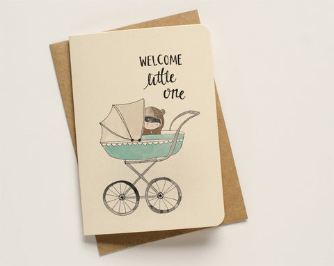 An April Idea Card - Welcome Little One Blue