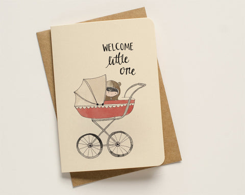 An April Idea Card - Welcome Little One Pink