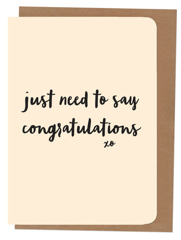 An April Idea Card - Just need to say Congratulations